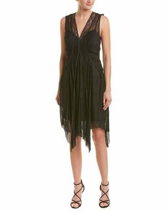 BCBGMAXAZRIA Azria Women's Asymmetrical Lace-Trimmed Dress