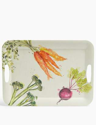 Marks and Spencer Melamine Vegetable Print Tray
