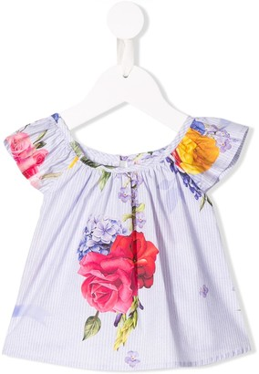 Lapin House Floral Short-Sleeve Top