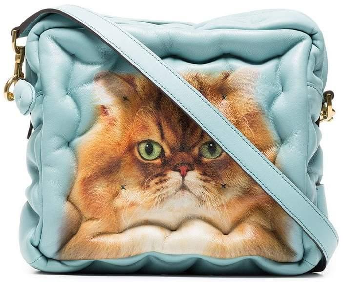 Anya Hindmarch Blue Cat Chubby Cube leather bag