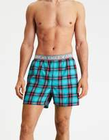 American Eagle Outfitters AE Blue And Red Plaid Poplin Boxer