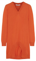 Givenchy Cutout Cashmere, Wool And Silk-blend Sweater - Orange