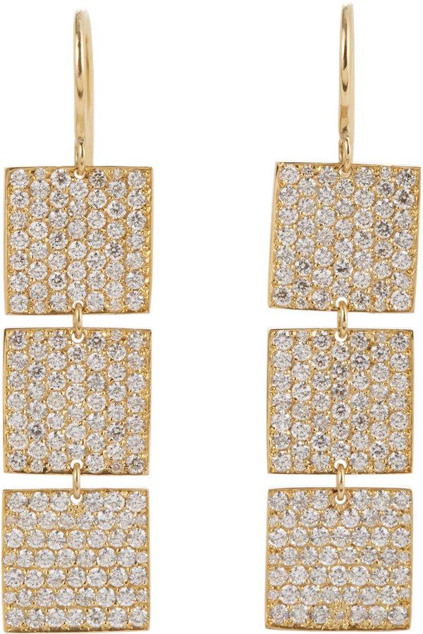 Irene Neuwirth Diamond Collection Diamond & Gold Cascading Earrings