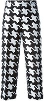 DSQUARED2 'Babe Wire' patterned trousers - women - Silk/Cotton/Polyester - 38