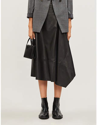 Brunello Cucinelli High-waisted leather skirt