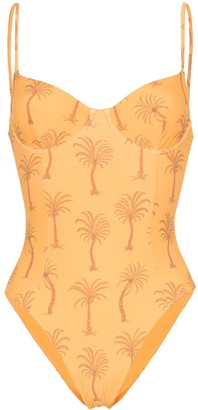 Onia Isabella palm tree print swimsuit