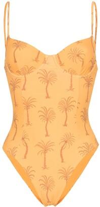 Onia Isabella palm tree print swimsuit