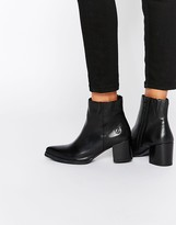 Bronx Point Heeled Leather Ankle Boots