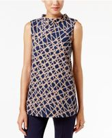 Alfani Mock-Neck Printed Top, Only at Macy's