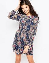 Iska Long Sleeve Paisley Print Dress