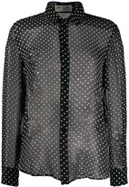 Saint Laurent sheer polka dots blouse
