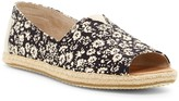 Toms Printed Open Toe Espadrille Slip-On Flat