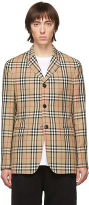 Burberry Beige Wool Tailored Blazer