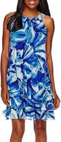 Studio 1 Watercolor Triple-Tier Shift Dress