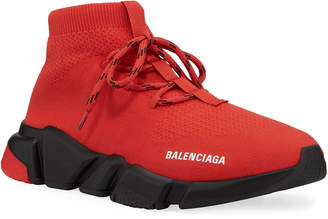 Balenciaga Men's Speed Lace-Up Knit Sneakers