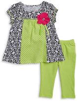Kids Headquarters Girls 2-6x Little Girls Damask Tunic and Leggings Set