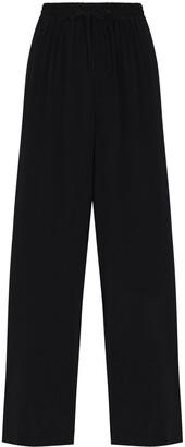 Matteau Drawstring High-Waisted Trousers