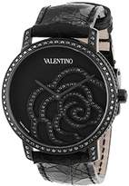 Valentino Women's V41SBQ6709SSA09 Rose Black Diamond Bezel and Dial Crocodile Leather Watch
