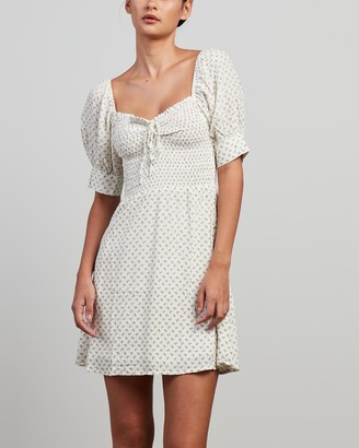 Faithfull The Brand Women's White Mini Dresses - Dulcia Mini Dress - Size 6 at The Iconic