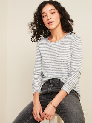 Old Navy Cozy Plush-Knit Striped Long-Sleeve Tee for Women