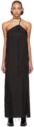 Yang Li Black Asymmetric Bondage Dress