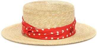 Maison Michel Kiki polka-dot straw hat