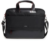 Lodis Alexus Nylon & Leather Briefcase - Black