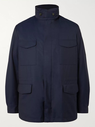Loro Piana Rain System Virgin Wool-Blend Field Jacket With Detachable Quilted Shell Liner