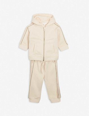 Chloé Logo-print cotton-blend jacket and bottoms set 6-36 months