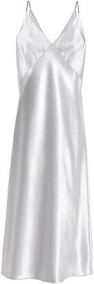 Vince Crinkled Satin Midi Dress