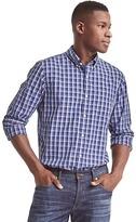 Gap True wash poplin windowpane standard fit shirt