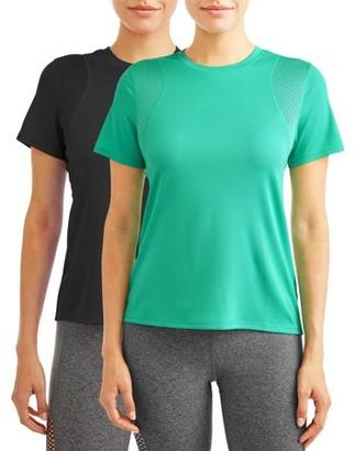 Avia Women's Active Performance Crewneck T-Shirt, 2-Pack