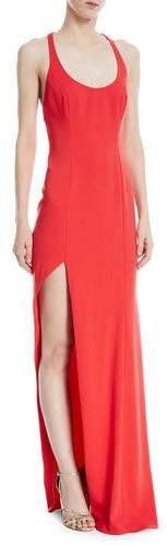 Jay Godfrey High-Slit Racerback Floor-Length Gown