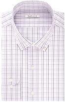 Van Heusen Big & Tall Regular-Fit Windowpane Sateen No-Iron Button-Down Collar Dress Shirt
