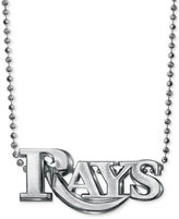MLB Collection by Alex Woo Sterling Silver Tampa Bay Rays Pendant Necklace