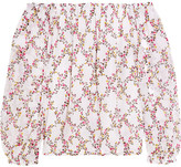 Diane von Furstenberg Kamber Off-the-shoulder Floral-print Silk-chiffon Top - White