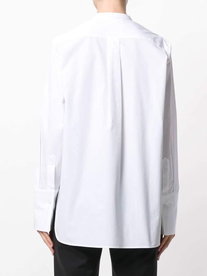 Ports 1961 textured collarless shirt