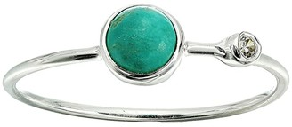Pura Vida Double Stone Ring (925 Sterling Silver/Genuine Turquoise/Cubic Zirconia) Ring