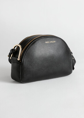 And other stories Half Moon Leather Crossbody Bag