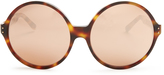 Linda Farrow Oversized rose-gold plated sunglasses
