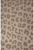 National Geographic Home Collection Wool Tan Leopard Flat Weave Area Rug