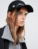 Calvin Klein Structured Cap with Check Contrast Band