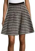 Saks Fifth Avenue Plaid Flared Skirt