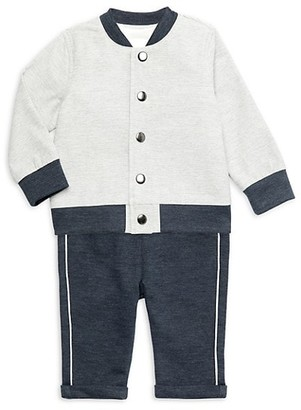 Miniclasix Baby Boy's 3-Piece Jacket, T-Shirt & Pants Set