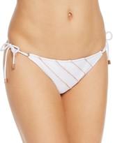 Vix Solid Ribbing Side Tie Full Bikini Bottom