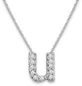 KC Designs White Gold Diamond Letter U Necklace