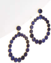 Noir 14K Plated Lapis Hoop Earrings