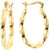 SPARKLE ALLURE Sparkle Allure Gold Tone Brass Ribbon Twist Hoop Earrings