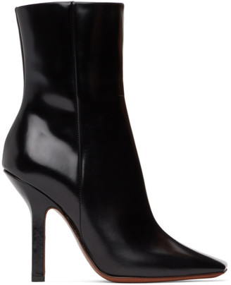 Vetements Black Boomerang High Heel Ankle Boots