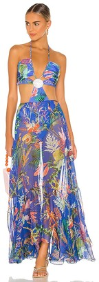 PatBO Oasis Cut-Out Beach Dress